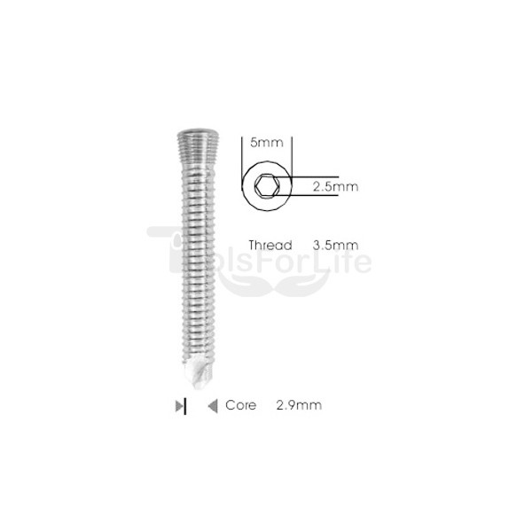 Safety Lock (LCP) Screw 3.5mm Self Tapping & Self Drilling