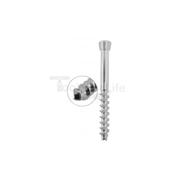 Cannulated Cancellous Safety Lock (LCP) Screw 5.0mm 32mm Threads