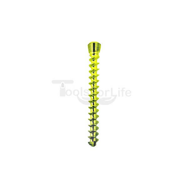 Cancellous Safety Lock (LCP) Screw 5.0mm Full Threads Titanium